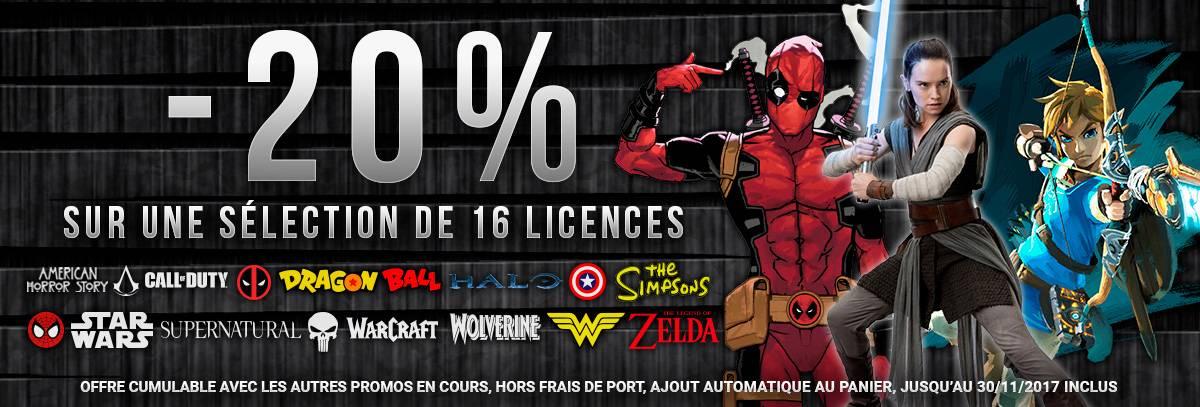 -20% sur 16 Licences