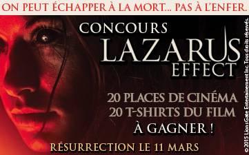 Résultats Jeu Concours Lazarus Effect 2015