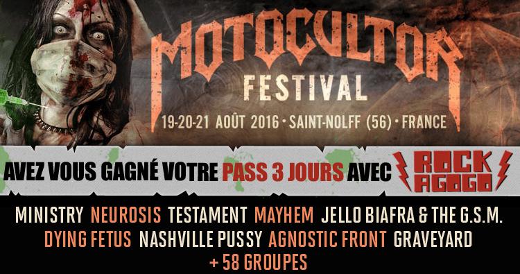 Concours Festival Motocultor 2016 par Rock A Gogo