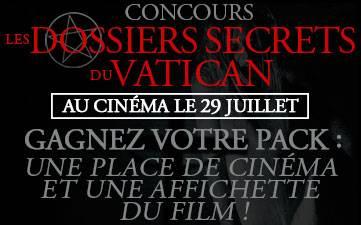 Résultat Jeu Concours Les Dossiers Secrets du Vatican 2015