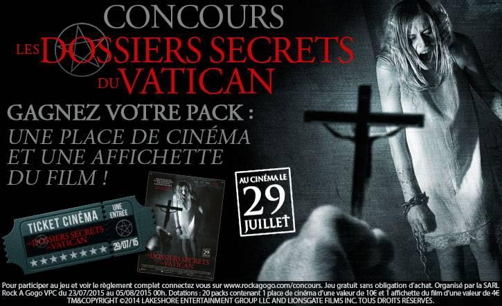 Concours Film Les Dossiers Secrets du Vatican 2015 par Rock A Gogo