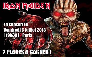 Résultat Jeu Concours Iron Maiden 2018