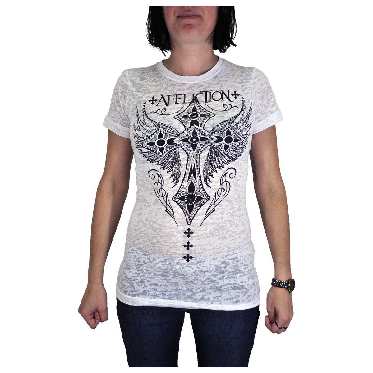 Tee Shirt Femme AFFLICTION - Hotspot - Rock A Gogo 154f1f555584
