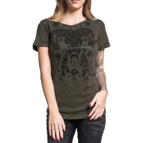 Tee Shirt Femme AFFLICTION - Freedom Tribe Reversible - Rock A Gogo 2c02b10d0d53