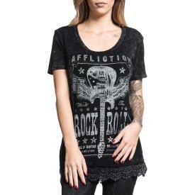 Tee Shirt Femme AFFLICTION - Music Gods