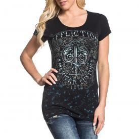 Tee Shirt Femme AFFLICTION - Death Spade Chrome