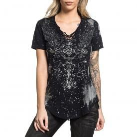 Top Femme AFFLICTION - Diamonds