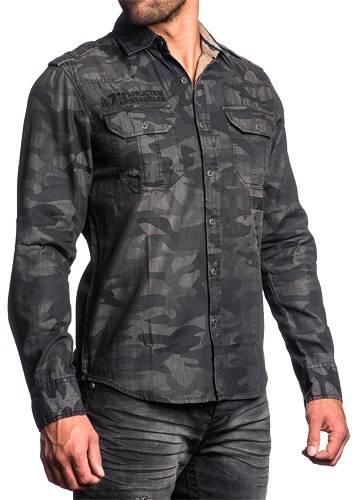 chemise mec affliction stone sinners chemises rock a gogo. Black Bedroom Furniture Sets. Home Design Ideas