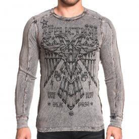 T-Shirt Manches Longues Réversible Homme AFFLICTION - Eagle