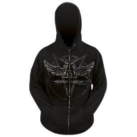 Sweat Zippé Mec ALCHEMY GOTHIC - Satan's Shield
