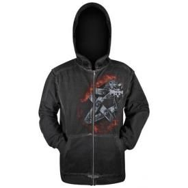 Sweat Zippé Mec ALCHEMY GOTHIC - Burnin Devil