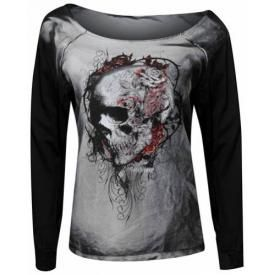 Sweat Femme ALCHEMY GOTHIC - Faded Flower Skull