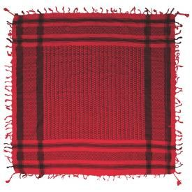 Keffieh DOUBLE - Noir et Rouge