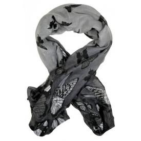 Foulard DIVERS - Butterflies Grey