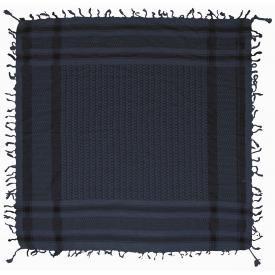 Keffieh DOUBLE - Noir et Bleu