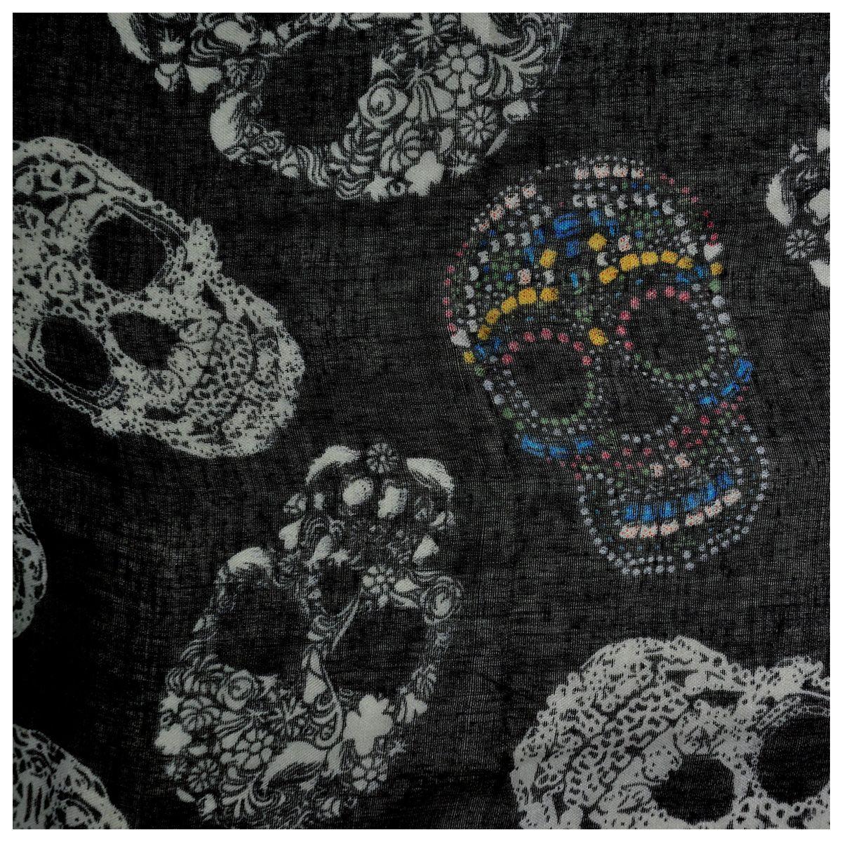foulard t te de mort mexican skulls foulards rock a gogo. Black Bedroom Furniture Sets. Home Design Ideas