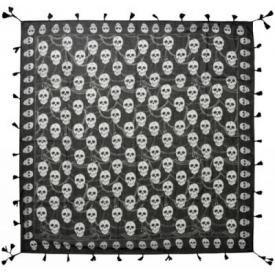 Foulard TÊTE DE MORT - Skulls & Chains B&W
