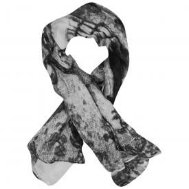 Foulard TÊTE DE MORT - Grey Skull Chains And Roses
