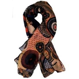 Foulard DIVERS - Color Circles Brown