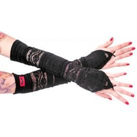 Arm Warmers QUEEN OF DARKNESS - Pointy Lace Gloves