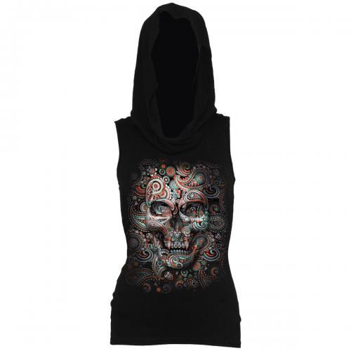 b0b5487084152 Sweat Femme SPIRAL - Skull Illusion - Rock A Gogo