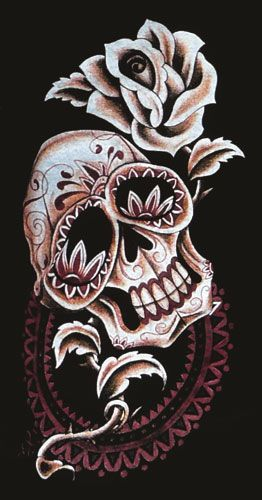 mexican skull tattoo. WEAR - Mexican Skull
