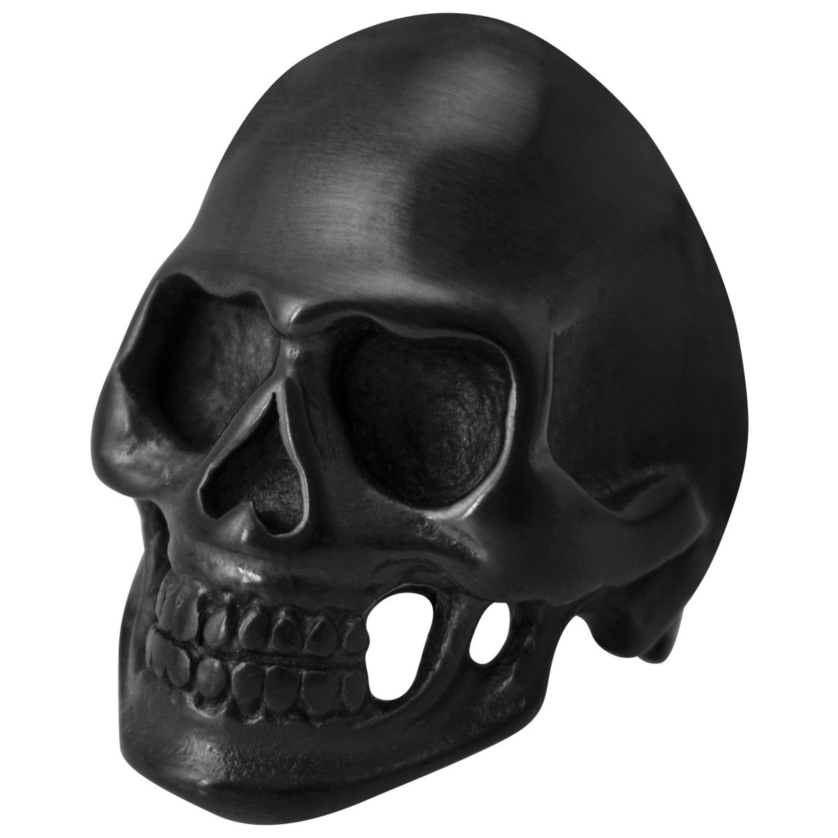 bague acier big black skull bagues rock a gogo. Black Bedroom Furniture Sets. Home Design Ideas