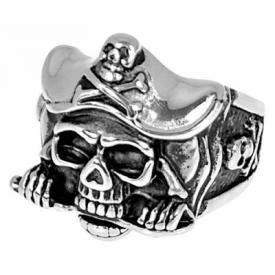 Bague ACIER - Pirate
