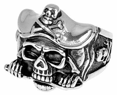 bague acier pirate bagues rock a gogo. Black Bedroom Furniture Sets. Home Design Ideas