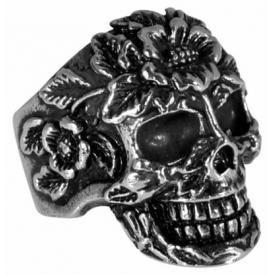 Bague ACIER  - Skull And Roses