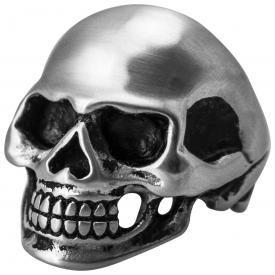 Bague ACIER - Skull Mat