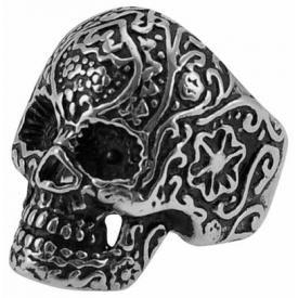 Bague ACIER - Skull Tattoo