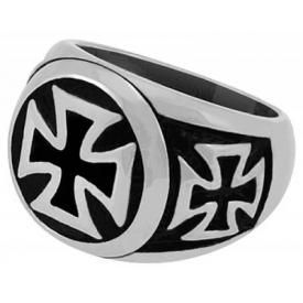 Bague ACIER - Maltese Cross Circle
