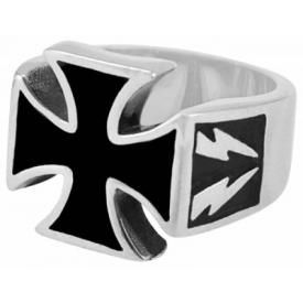 Bague ACIER - Maltese Cross Flash