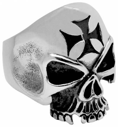 bague acier warcross skull bagues rock a gogo. Black Bedroom Furniture Sets. Home Design Ideas