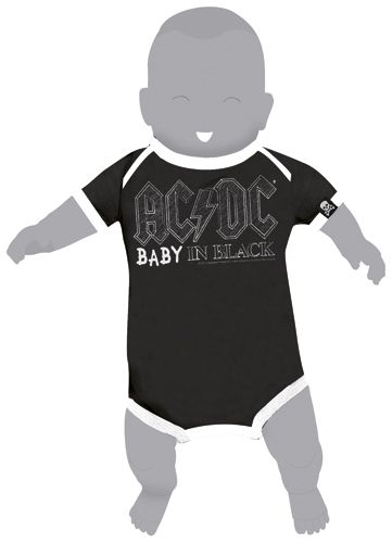 Body Bébé AC DC - Baby In Black - Rock A Gogo fa6d6fddfbe