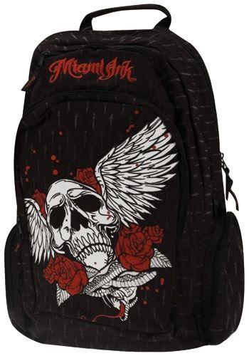 sac dos miami ink backpack sacs rock a gogo. Black Bedroom Furniture Sets. Home Design Ideas