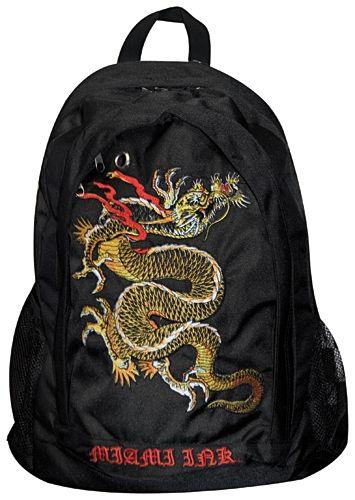 sac dos miami ink dragon sacs rock a gogo. Black Bedroom Furniture Sets. Home Design Ideas