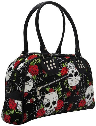 sac main jawbreaker skulls roses sacs rock a gogo. Black Bedroom Furniture Sets. Home Design Ideas