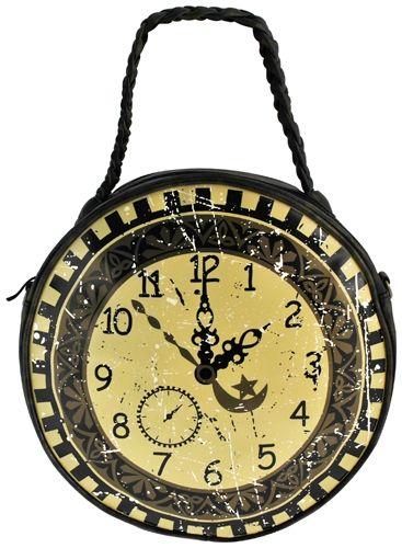 076e1da27d Sac à Main BANNED - Steampunk Clock - Rock A Gogo