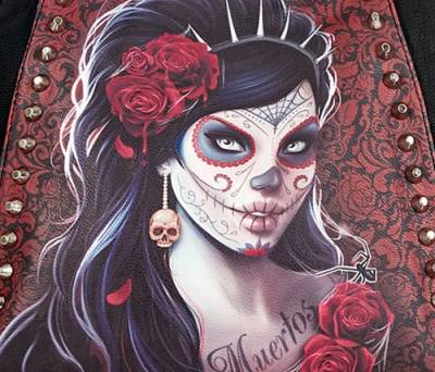 sac main spiral day of the dead rock a gogo. Black Bedroom Furniture Sets. Home Design Ideas
