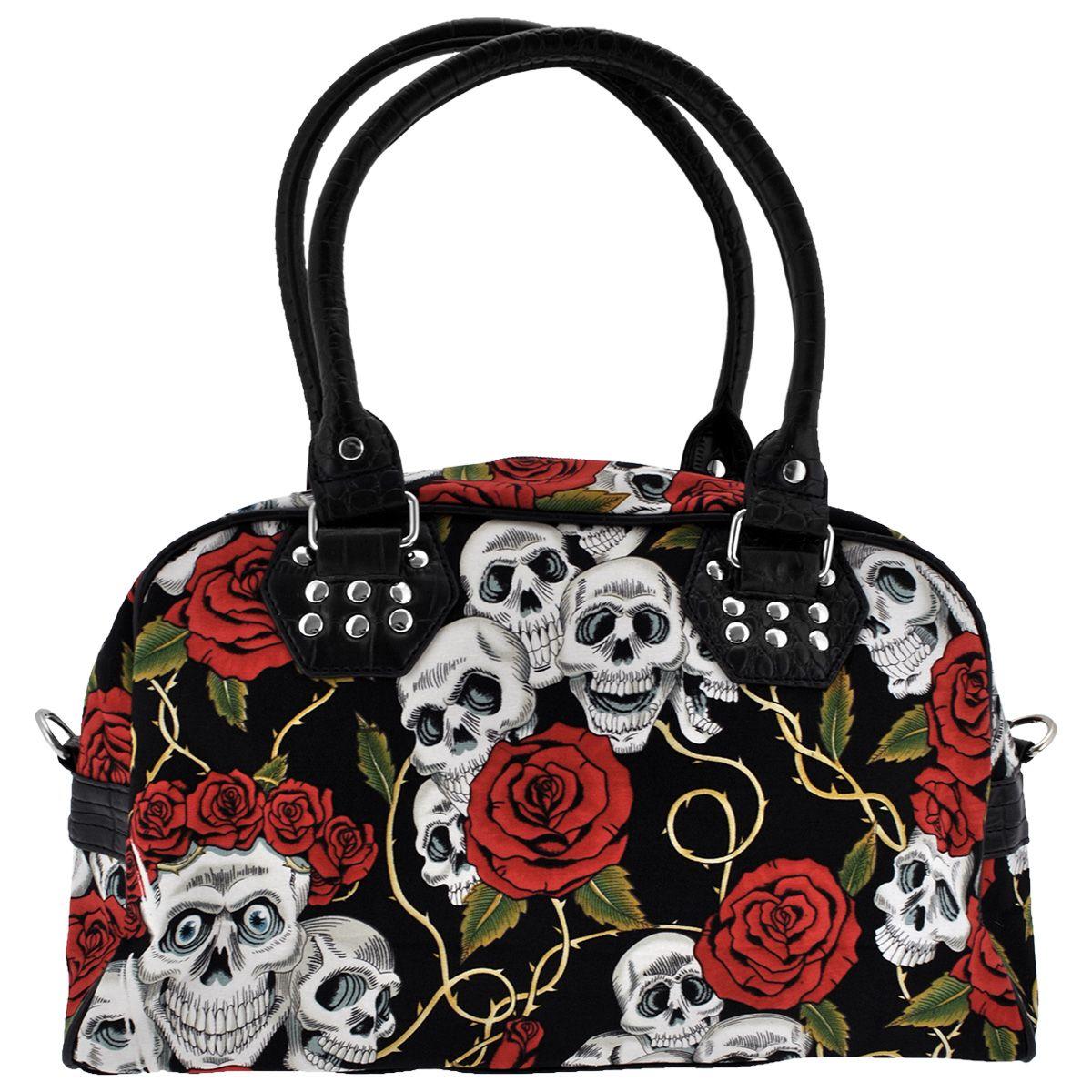 402d940db Sac à Main BANNED - Skulls & Roses - Rock A Gogo