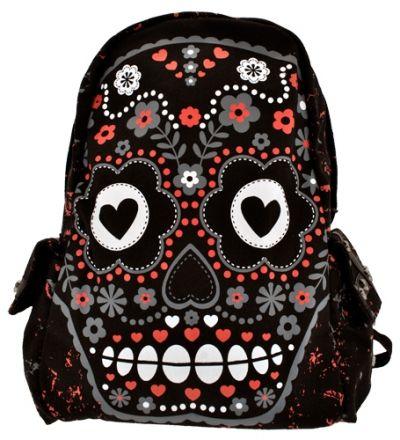 sac dos banned sugar skull sacs rock a gogo. Black Bedroom Furniture Sets. Home Design Ideas