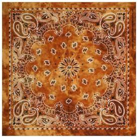 Bandana CACHEMIRE - Paisley Orange Tye Dye