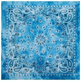 Bandana CACHEMIRE - Paisley Blue Tye Dye