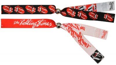bracelet festival rolling stones logo x2 bracelets rock a gogo. Black Bedroom Furniture Sets. Home Design Ideas