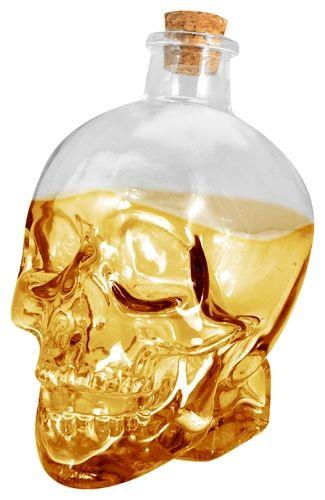 Bouteille dark d co t te de mort bouteilles rock a gogo - Deco tete de mort ...