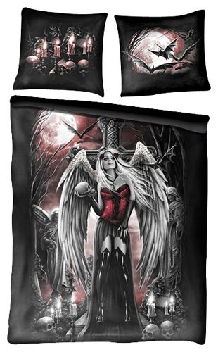 parure de lit double spiral angel of death coussins rock a gogo. Black Bedroom Furniture Sets. Home Design Ideas