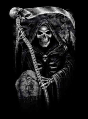 Plaid t te de mort fear the reaper plaids rock a gogo - Tete de mort style ...