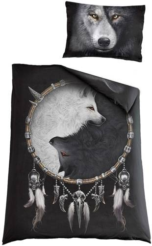 parure de lit spiral wolf chi rock a gogo. Black Bedroom Furniture Sets. Home Design Ideas